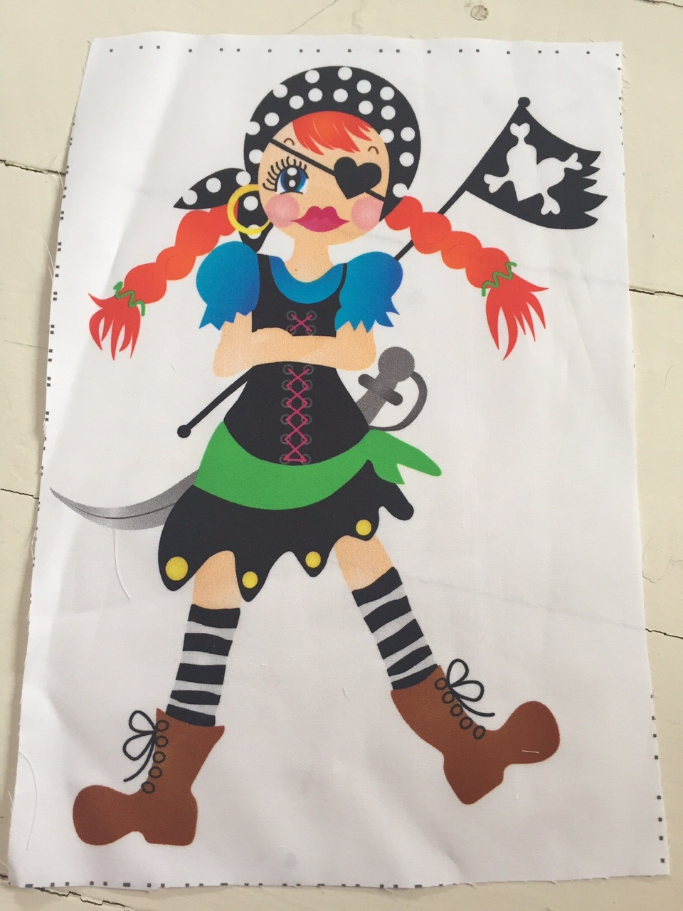 Stoffpaneel Bonnie the PIRATE