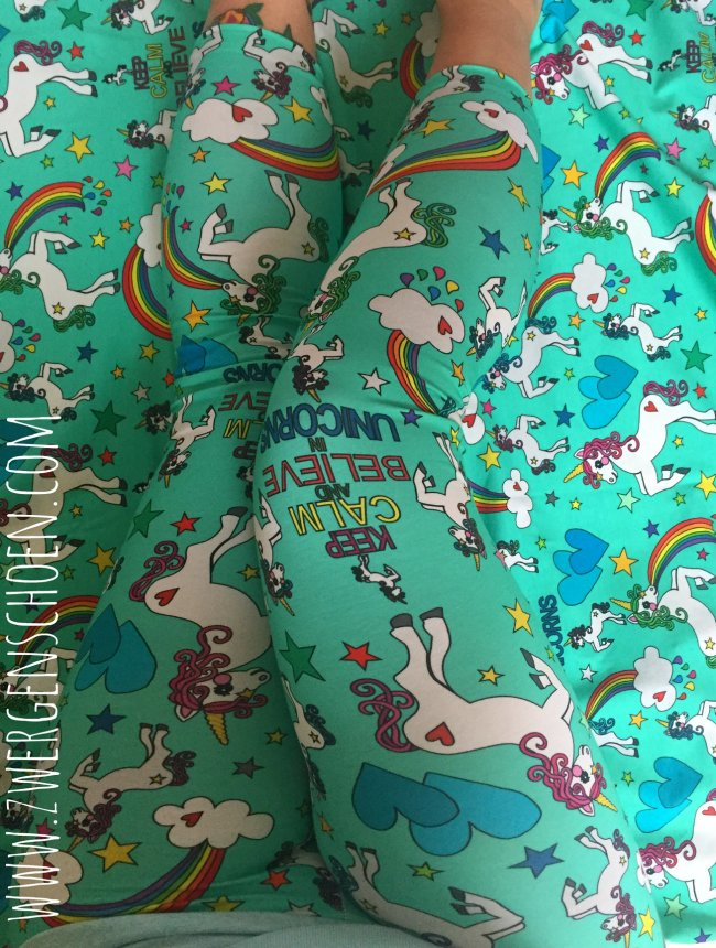 ♥UNICORN♥ 0.5m OUTLINERS turquise/mint JERSEY