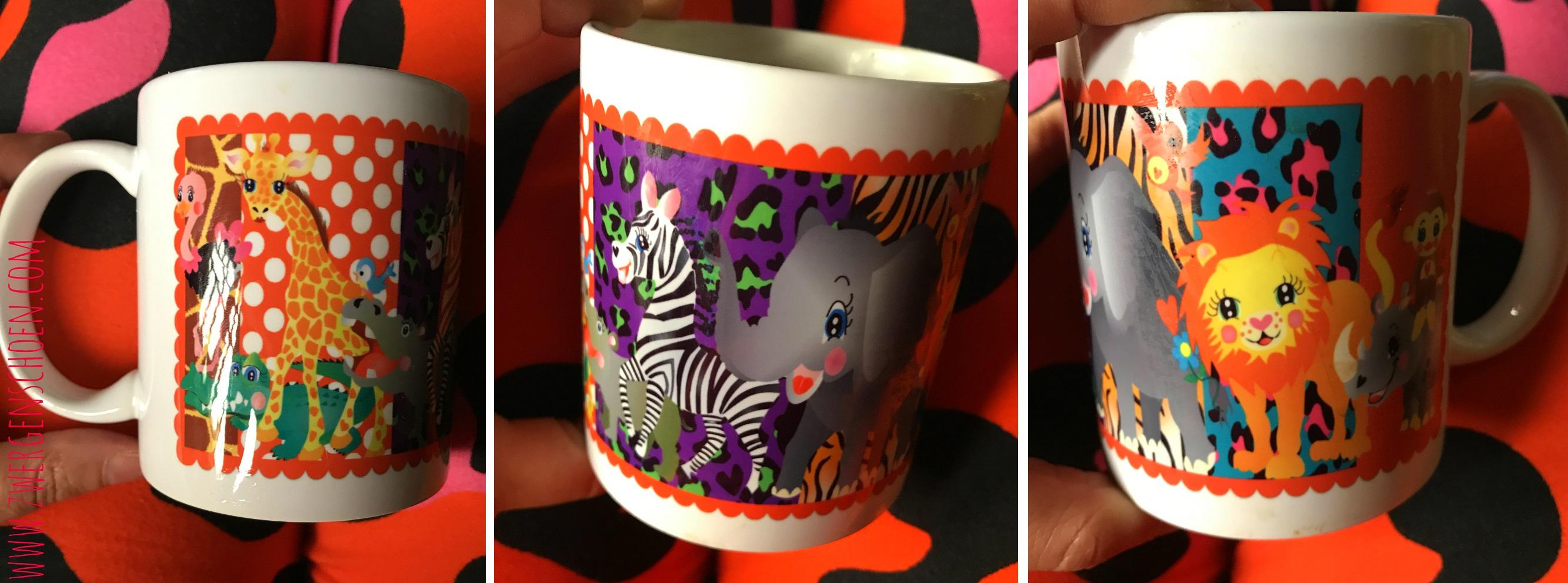 ♥AFRIKA-PÄTSCH♥ wild ANIMALS Tasse MUG Keramik TIERE