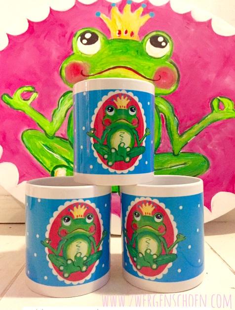 ♥YOGAFROG♥ Frogprince FROGKING Mug 0.3L
