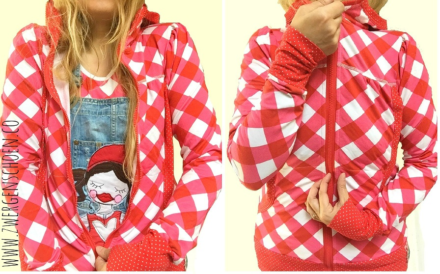 ♥VICHY XXL♥ 0,5m (!) checked JERSEY pink/red