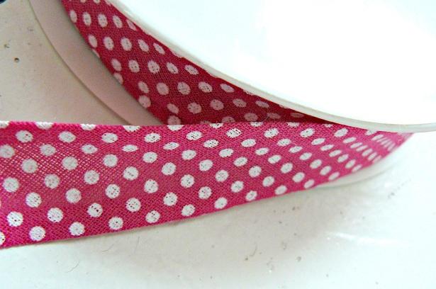 ♥SCHRÄGBAND♥ Baumwolle PÜNKTCHEN pink