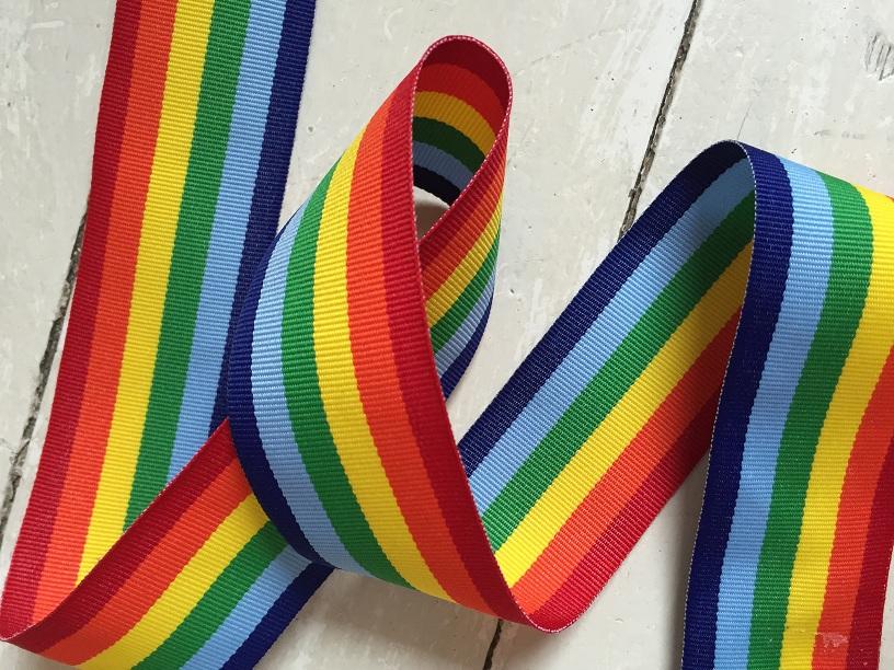 ♥RAINBOW♥ Ribbon XXL VERY SOFT and THIN price per meter