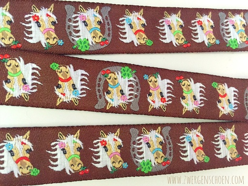 ♥MON CHERI♥ Ribbon HORSES PONY Chocolate
