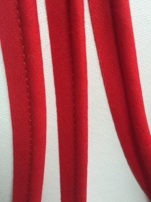 ♥TRIM♥ Paspel RIBBON red Cotton PRICE per METER