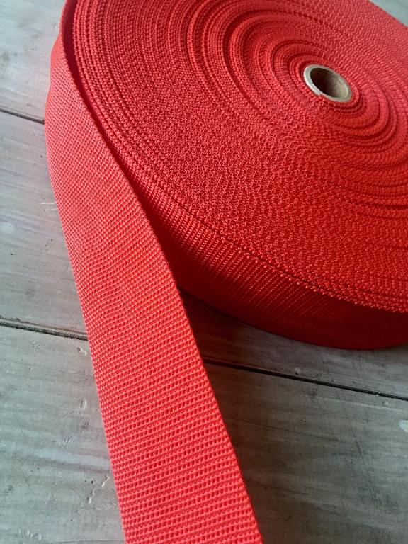 ♥BELT XL♥ RED RIBBON 5cm PRICE PER METER