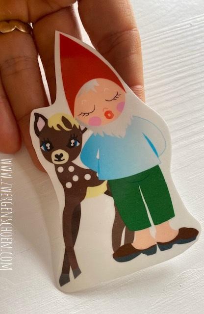 ♥5von7♥ AUFKLEBER Richard REH Gnome ZWERG 9x6cm TRANSPARENT