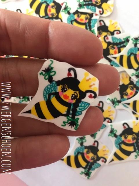 ♥BEE Queen♥ BIENENKÖNIGIN Aufkleber BIENE transparent 3cm