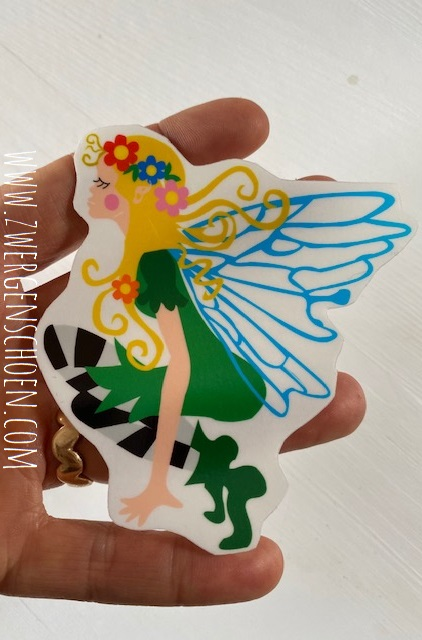 ♥FLOWER FAIRY♥ Aufkleber FEE transparent 10cm