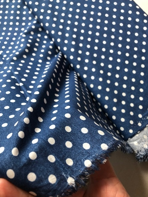 ♥HILCO`s JEANS STORY♥ 0.5m WOVEN COTTON Polka DOTS blue