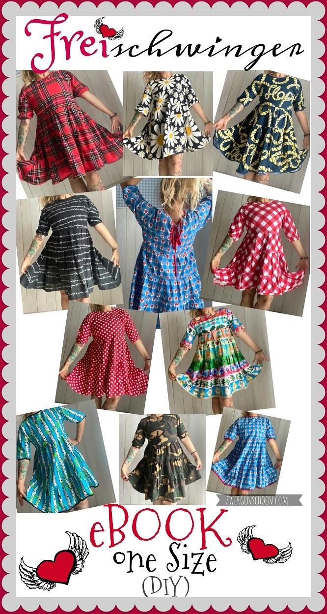 ♥FREIschwinger♥ eBOOK Stufen TUNIKA-Kleid ONE-SIZE 1€-SPARbie