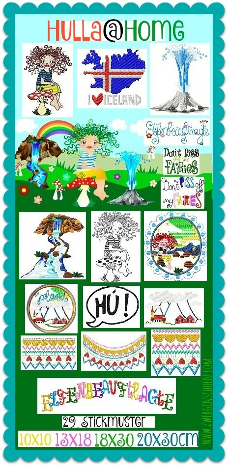 ♥HULLA@home♥ Embroidery FILE-Set ICLAND FAIRY GIRL Special