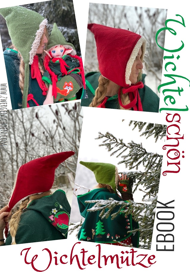 ♥WICHTELschoen♥ 1€-SPARbie EBOOK incl. BONUS FAIRY DWARF HAT german PATTERN