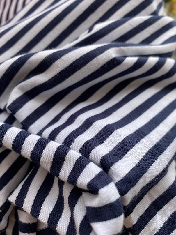 ♥RINGEL♥ 0.5m JERSEY Stripes MARINE blau/weiss STREIFEN