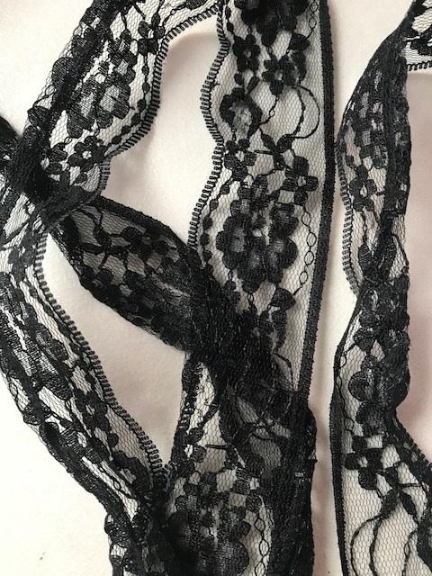 ♥SCHNÜRSENKEL♥ Spitze SCHWARZ Shoe LACES black