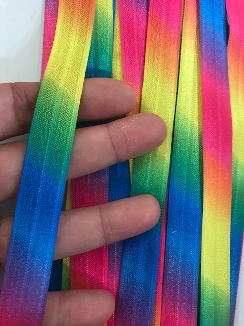 ♥RAINBOW♥ elastic RIBBON Price per METER