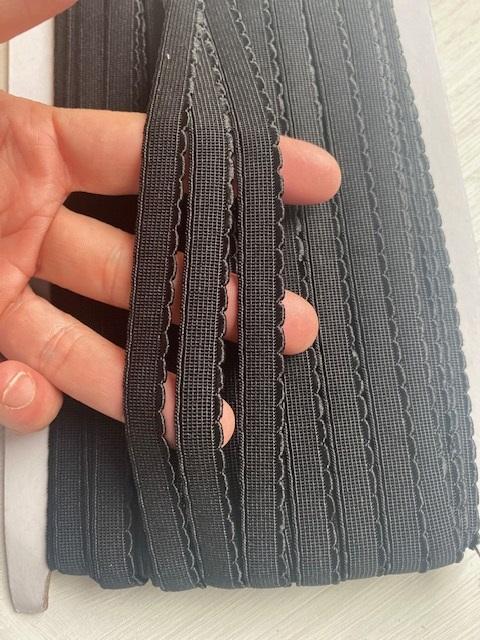 ♥WÄSCHEGUMMI♥ UNI schwarz BLACK Gummiband 1cm