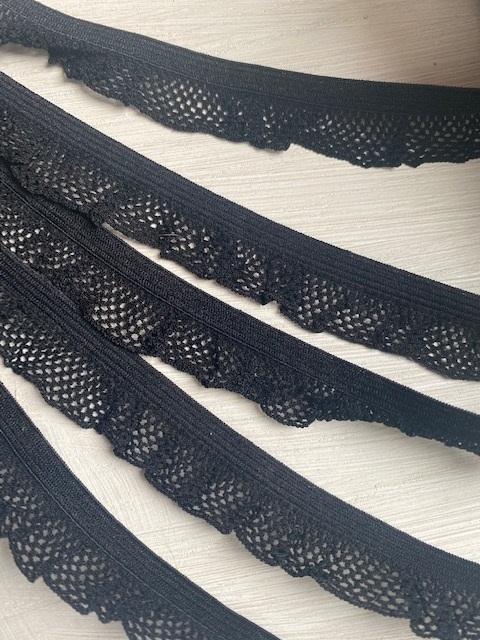 ♥RÜSCHENGUMMI♥ Wäschegummi GUMMIBAND schwarz 2cm