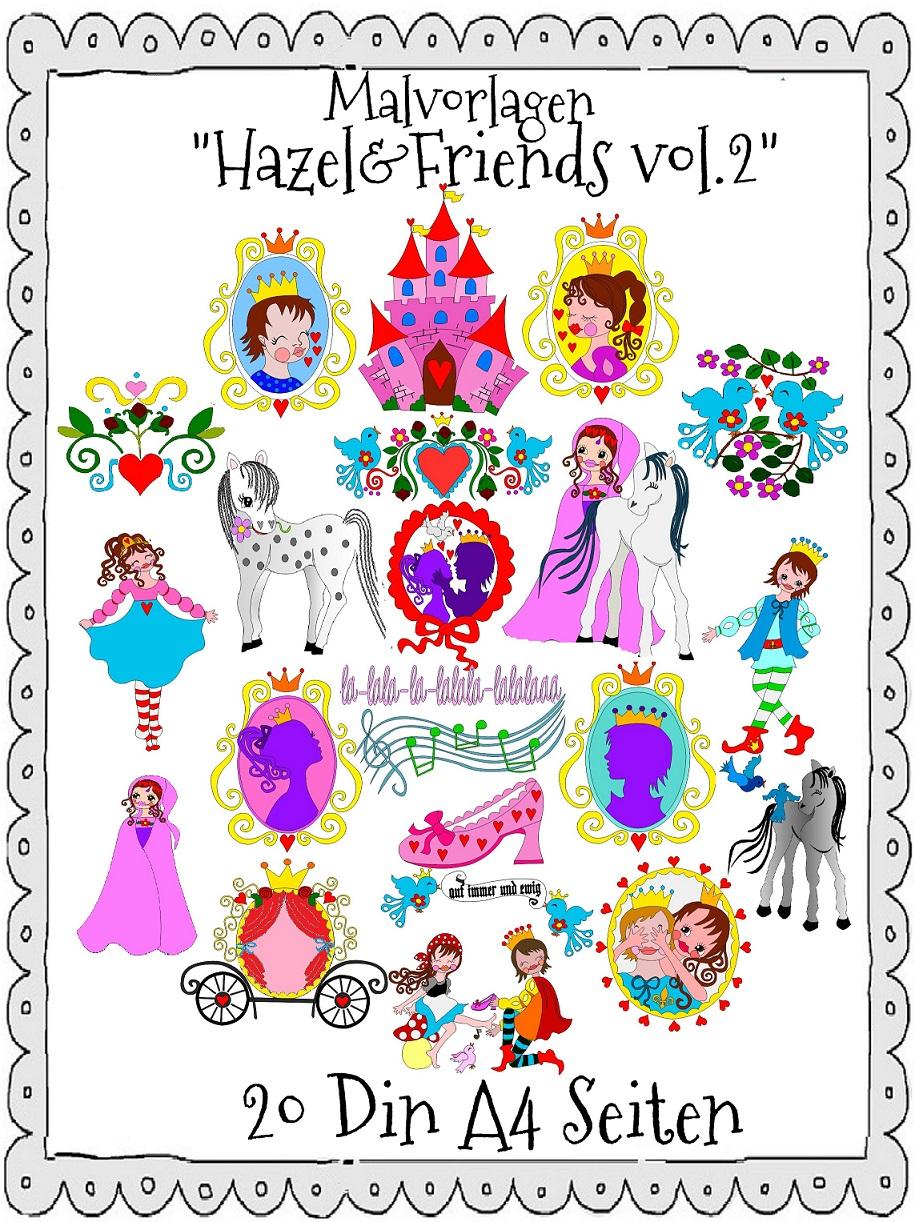 ♥MALvorlagen♥ DIN A4 HAZEL&Friends vol.2 ZWERGENSCHÖN Aschenbrödel