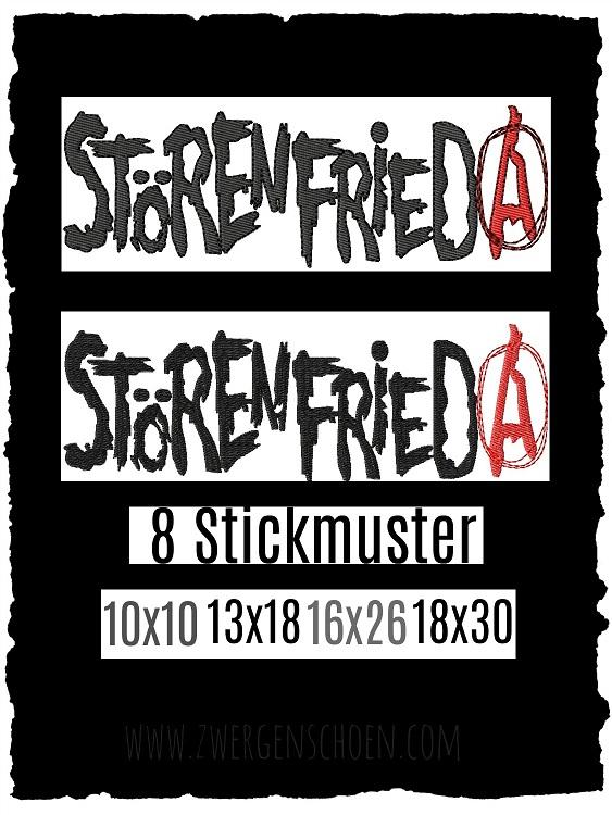 ♥STÖRENfrieda♥ Stickmuster 10x10 13x18 16x26 18x30cm