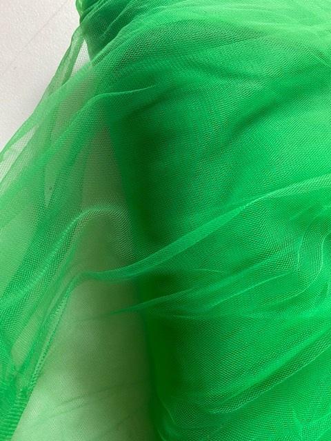 ♥ORGANZA♥ 0.5m TÜLL Mesh ELFEN+FEEN apfelgrün GRÜN