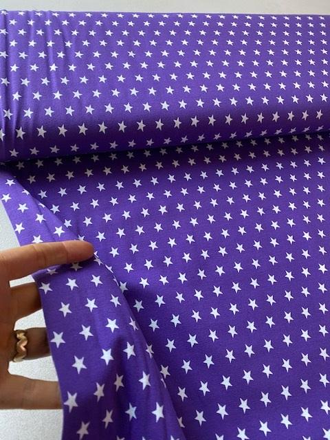 ♥SUPERSTARS♥ 0.5m Jersey LILA Sterne