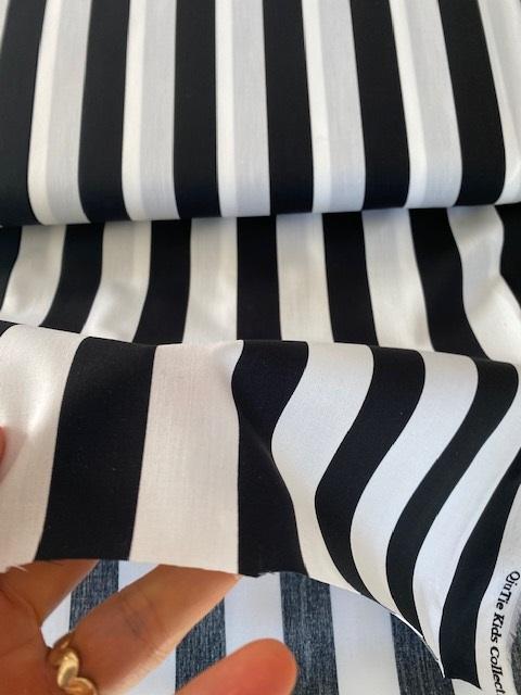 ♥BLOCKSTREIFEN♥ 0.5m BAUMWOLLE Streifen BLACK&WHITE