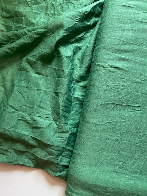 ♥POLY/COTT JERSEY♥ 0.5m CREASED grün GREEN crashed