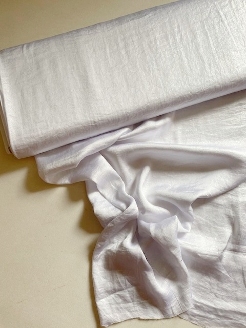 ♥SILKY AIRWASHED FOIL♥ 0.5m FAKE-Seide STOFF 100% PE weiss