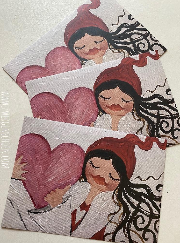 ♥MILLI in LOVE♥ Geschenktüten DIN C4 ZWERGENSCHÖN 3Stück