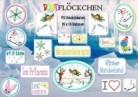♥Buntflöckchen♥ Eisprinzessin Stickdatei 13x18cm Winterwelt