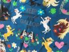 ♥HOTTEHÜ♥ 35cm BAUMWOLLE Pferde PONY blau